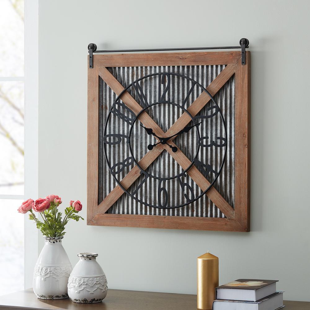 Fieldhaven Barn Door Clock