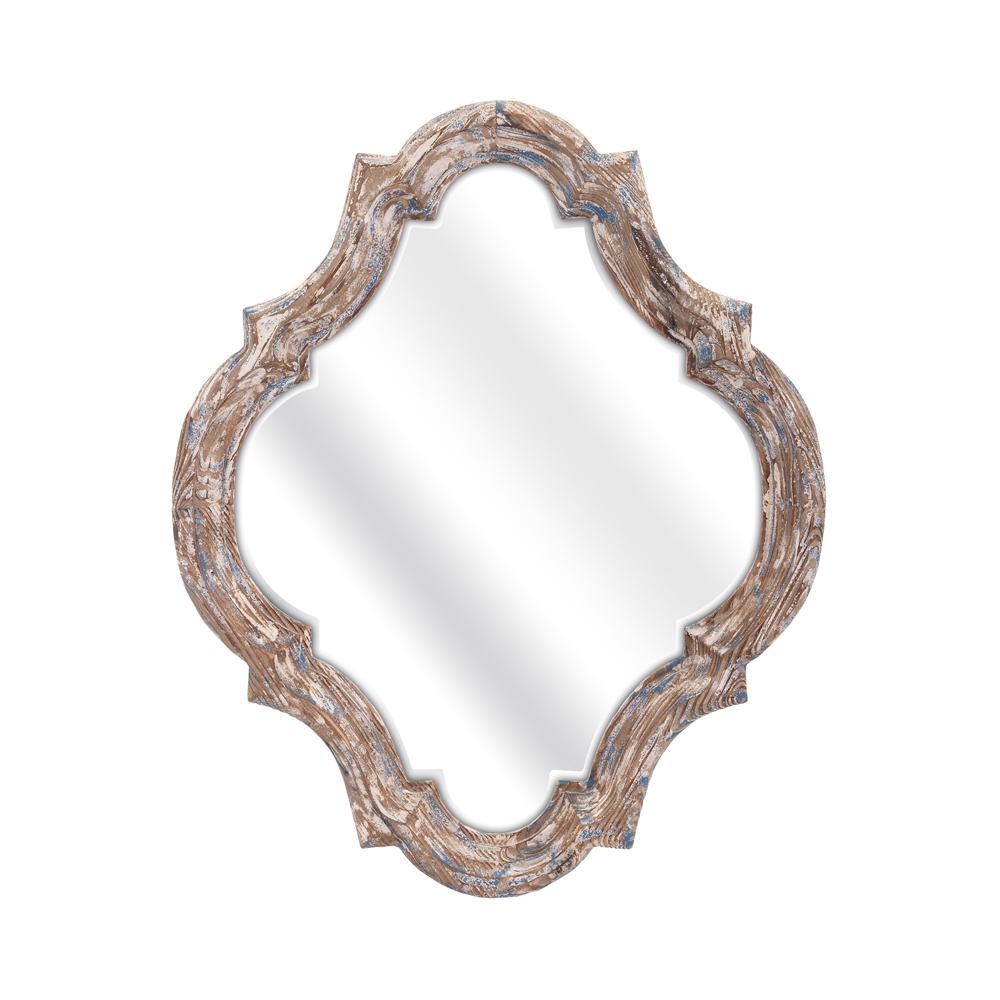 Stark 27 in. x 22.25 in. Framed Mirror in White Wash