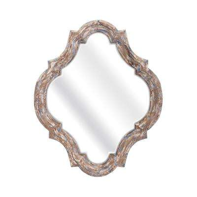 Stark 27 in. x 22.25 in. Framed Mirror in White Wash