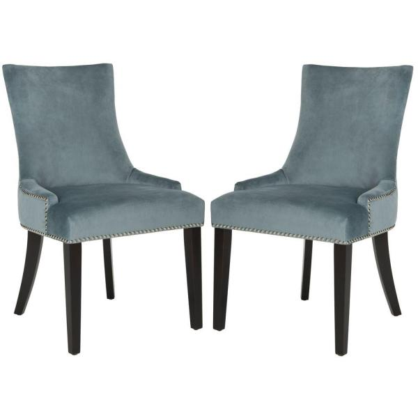 Lester Blue Cotton Dining Chair (Set of 2)