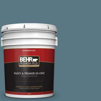 5 gal. #MQ5-26 Hampton Surf Flat Exterior Paint and Primer in One