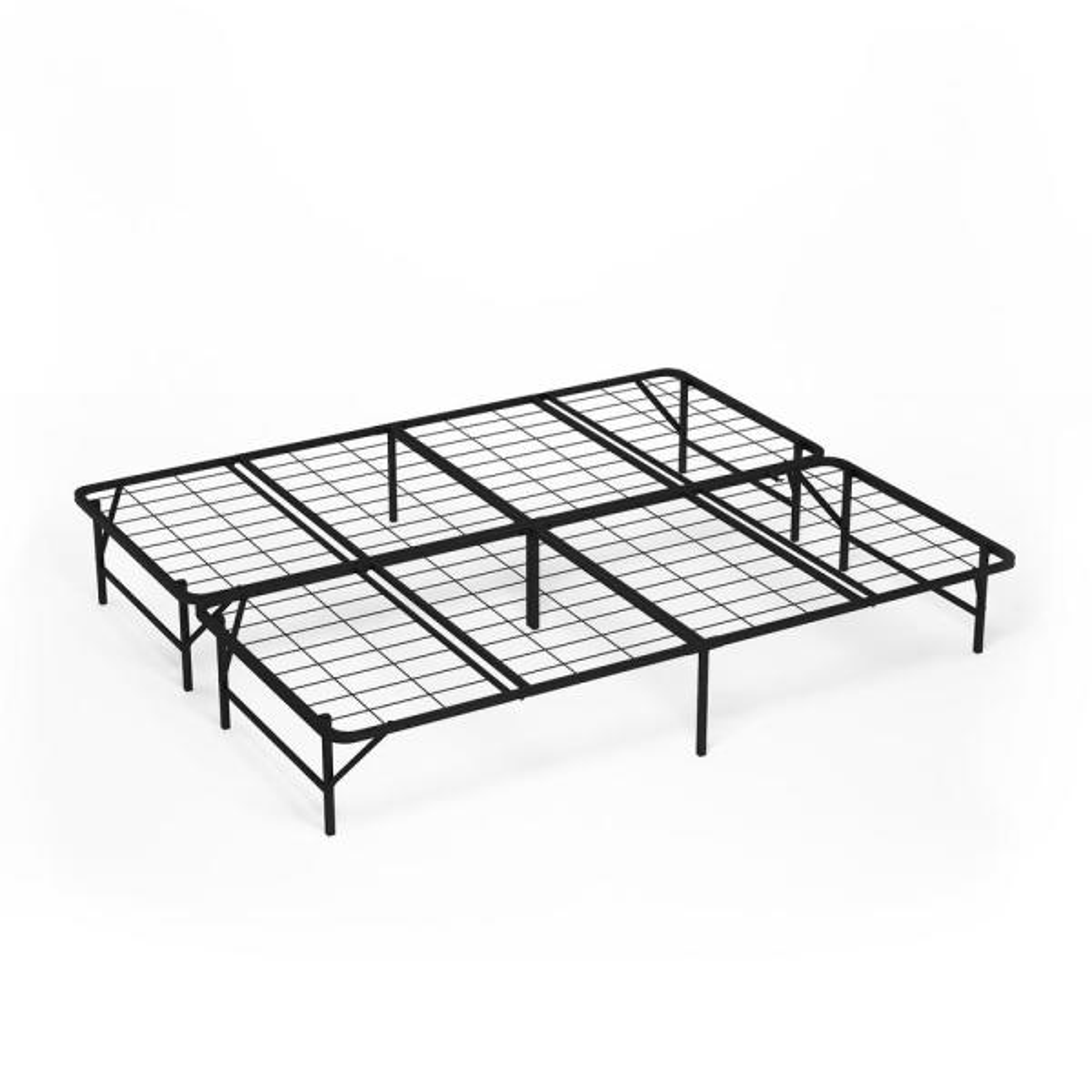 Furinno Angeland Mattress Foundation Platform California King Metal Bed Frame Fb009ck The Home Depot