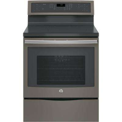 Profile 30 in. 5.3 cu. ft. Smart Free Standing Convection Range with Self-Cleaning Oven & Induction Cooktop in Slate