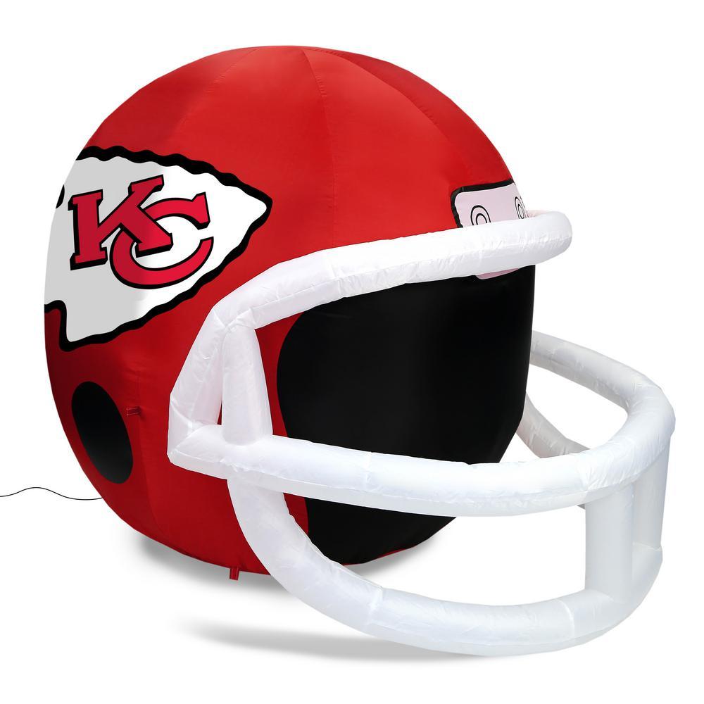 Unbranded Nfl Kansas City Chiefs Inflatable Helmet Fi 31716 The Home Depot