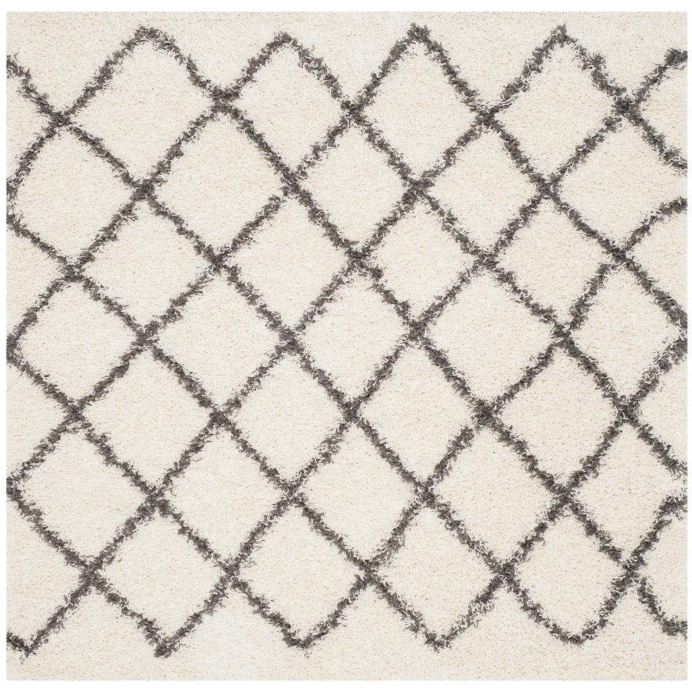 Safavieh Dallas Shag Ivory/Dark Gray 6 ft. x 6 ft. Square Area Rug