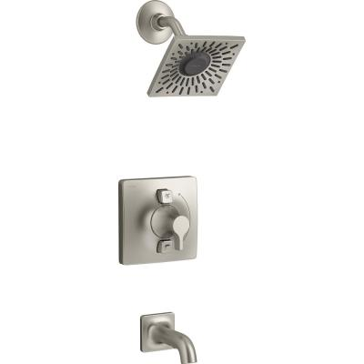 Venza Single-Handle 1-Spray Tub and Shower Faucet in Vibrant Brushed Nickel (Valve Included)