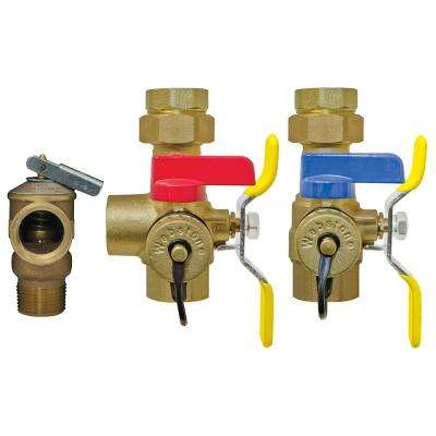 Isolator EXP 1 in. IPS Union x IPS Lead-Free Wall Hung and Combi Boiler Service Valve Kit