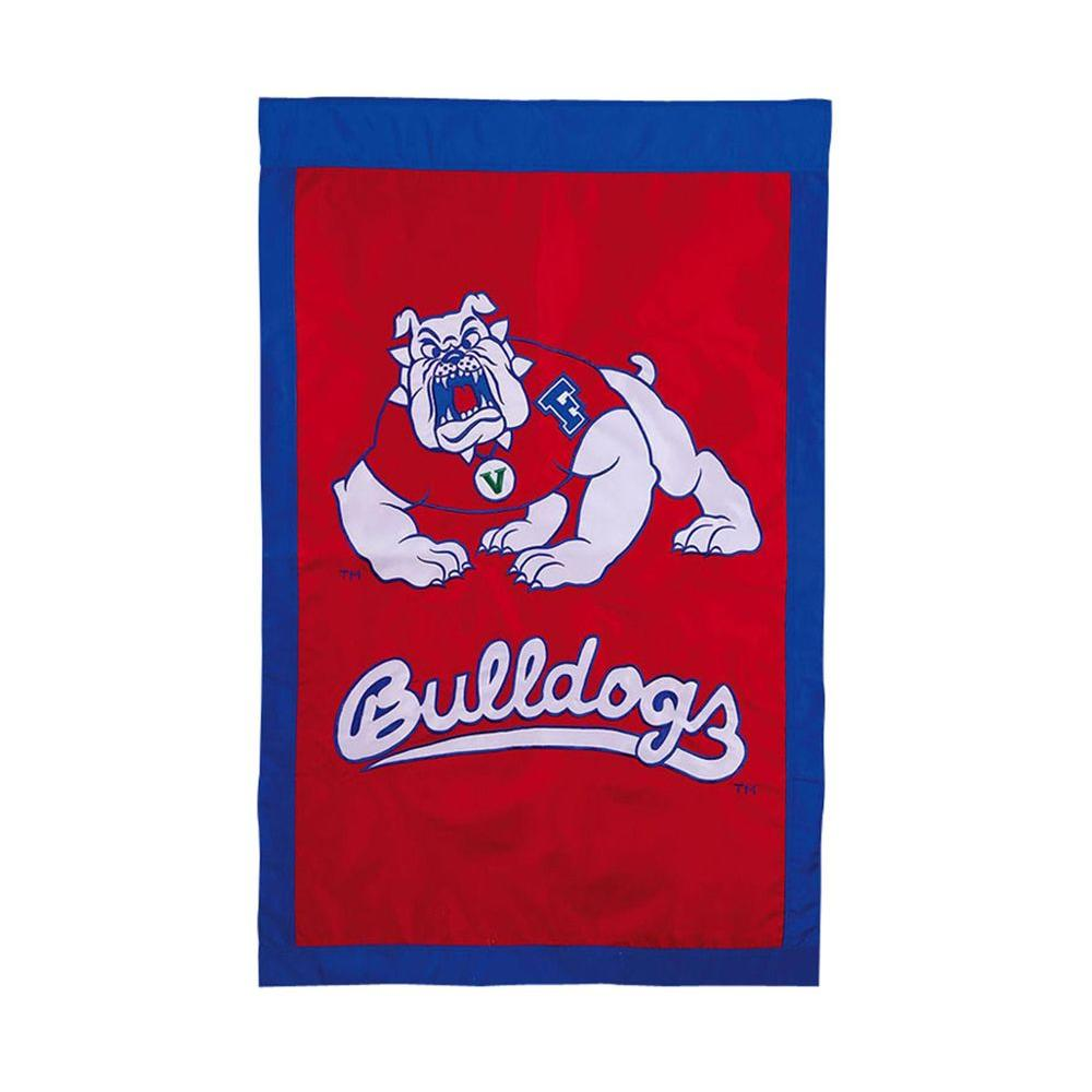 NCAA 28 in. x 44 in. Fresno State University Applique House