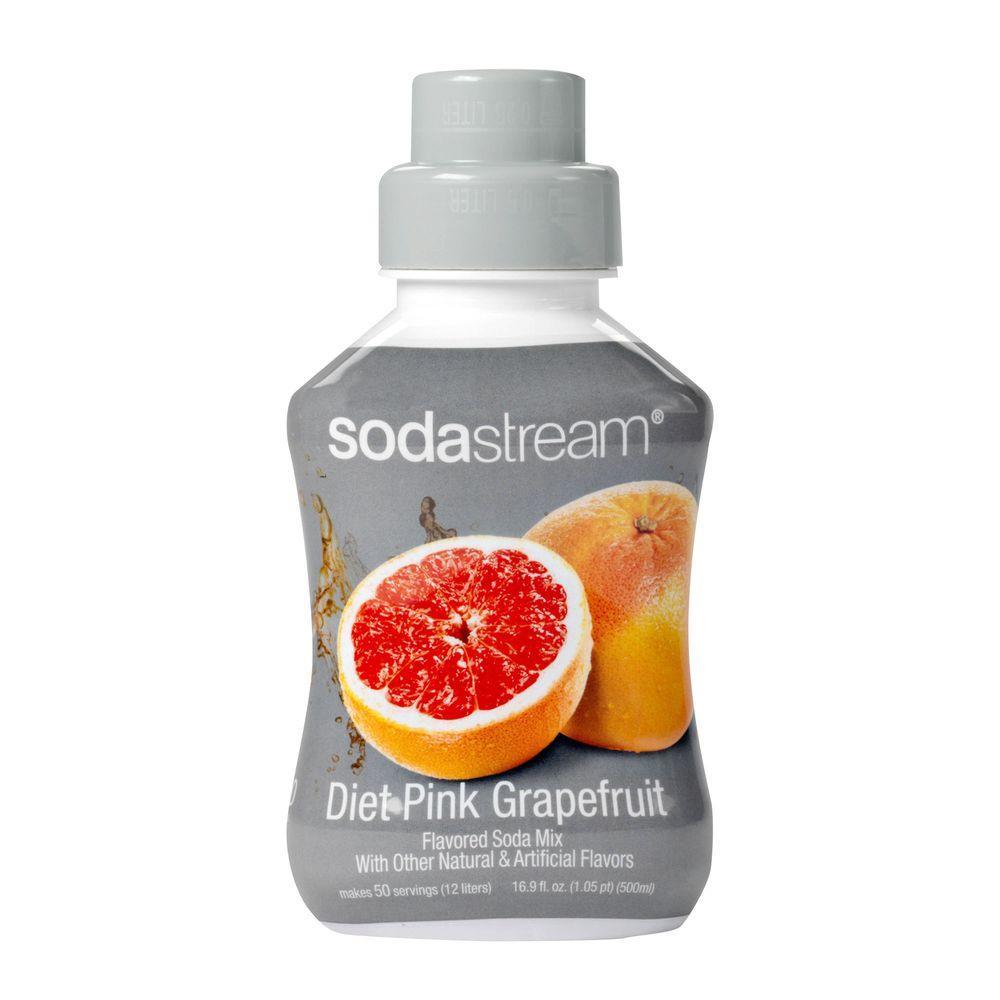 SodaStream 500ml Soda Mix - Diet Pink Grapefruit (Case of 4)