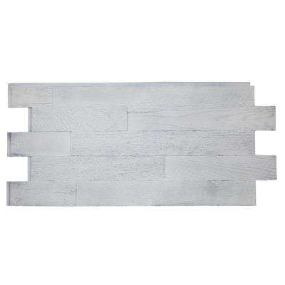 Faux Barnwood Panel 1.25 in. x 52.25 in. x 23 in. Country Cottage White Polyurethane Interlocking Panel