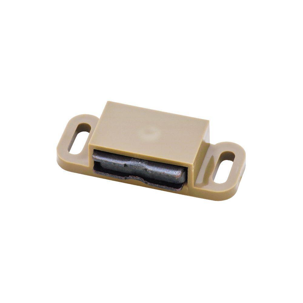 1-5/8 in. Tan Magnetic Door Catch (10-Pack)