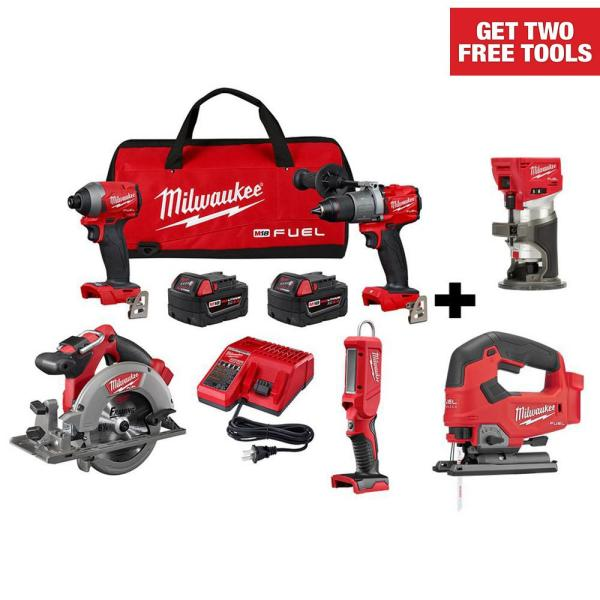 M18 FUEL 18-Volt Lithium-Ion Brushless Cordless Combo Kit (4-Tool) W/ Free Compact Router & Jig Saw