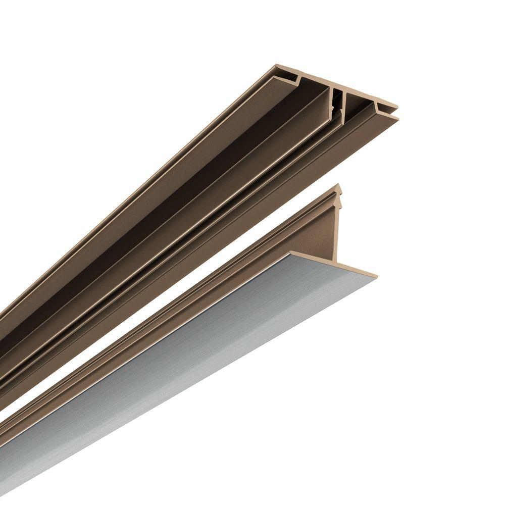 Fasade 100 sq. ft. Ceiling Grid Kit in Brushed Aluminum