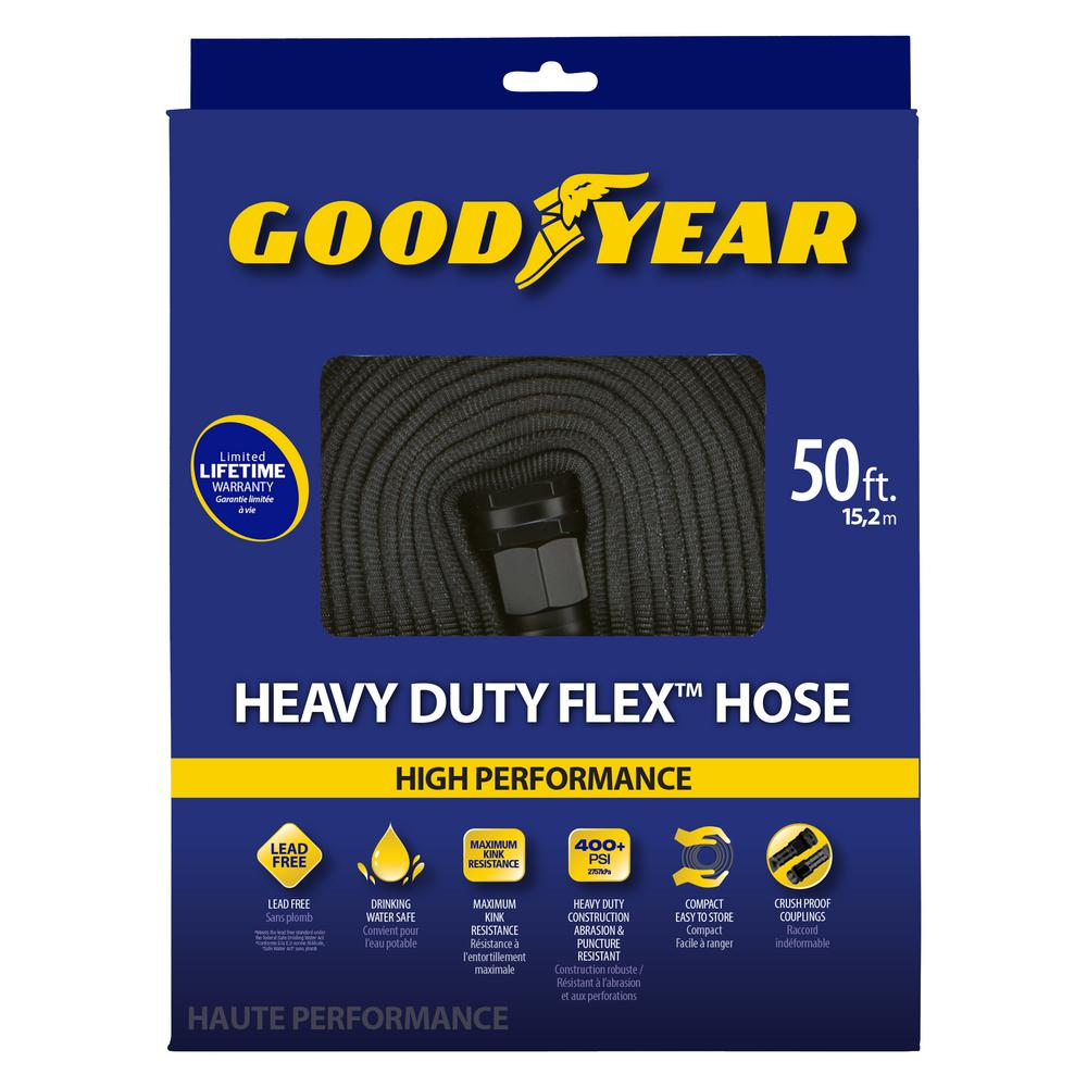 easy flexible garden hose home depot. Goodyear 1 2 in  dia x 50 ft heavy duty flat hose GYFH12050 The