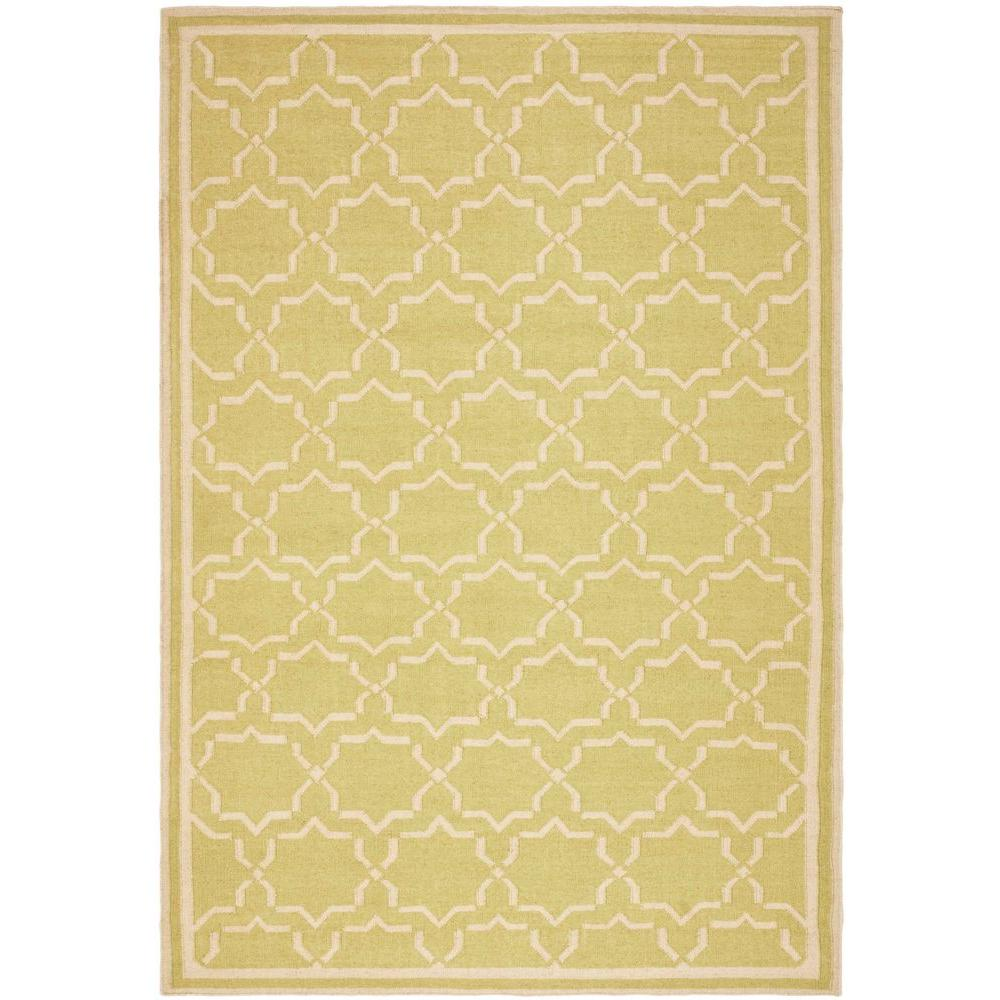 Dhurries Light Green/Ivory 9 ft. x 12 ft. Area Rug