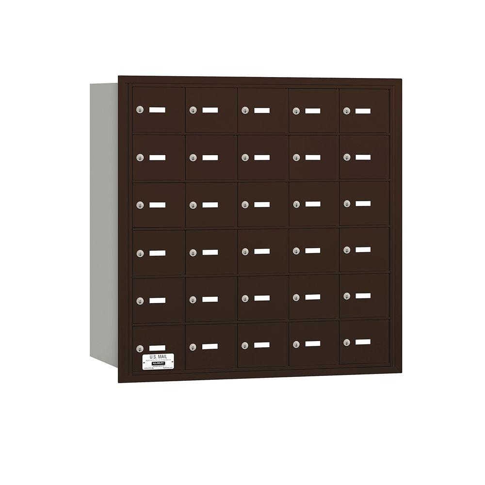 3600 Series Bronze Private Rear Loading 4B Plus Horizontal Mailbox with