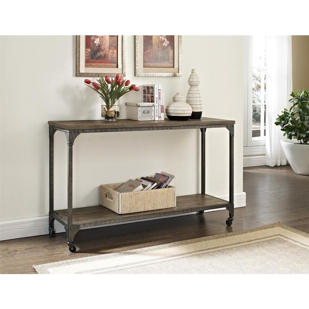 Altra Furniture Cecil Rustic Mobile Console Table-5075096