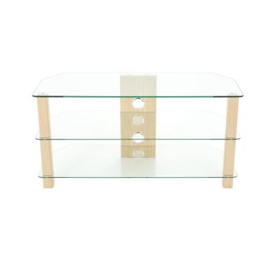 Oak and Glass Corner up to 50 in. TV Stand