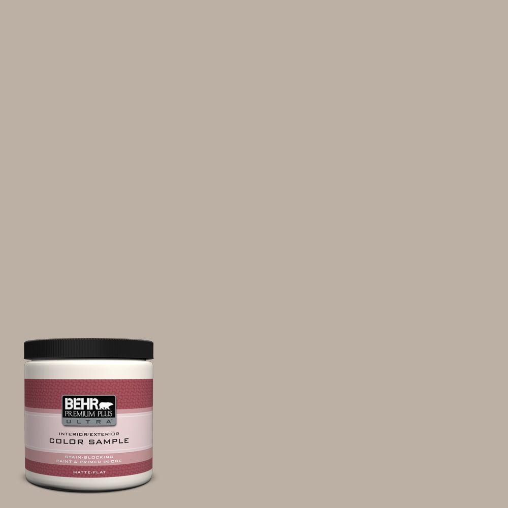 BEHR Premium Plus Ultra 8 oz. #N210-3 Barista Interior/Exterior Paint Sample