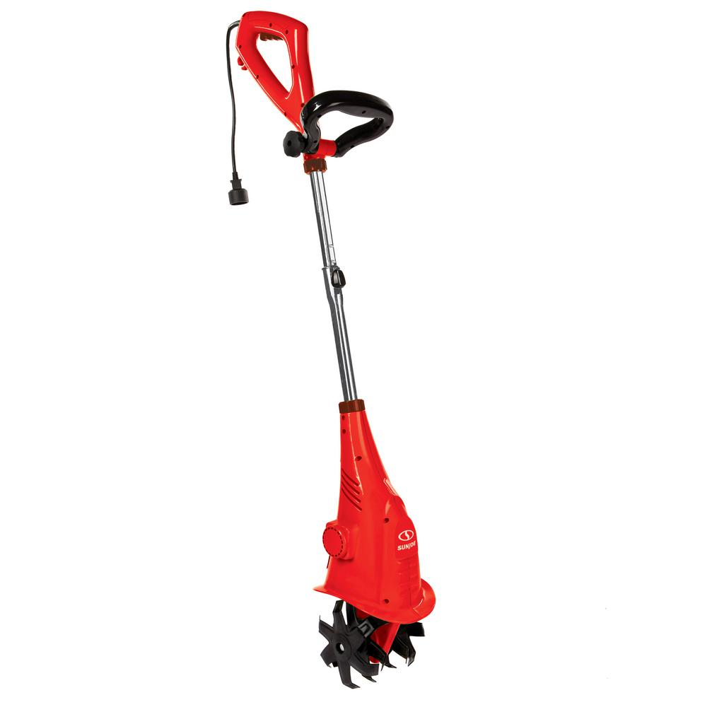 Sun Joe 6.3 in. 2.5 Amp Electric Cultivator, Red
