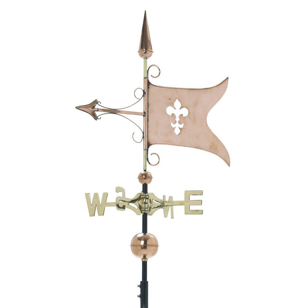 Copper Weathervane Banner - Polished