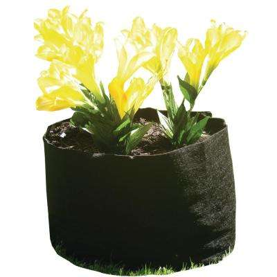 24 in. Black Eco-Mat Round Raised Garden Bed