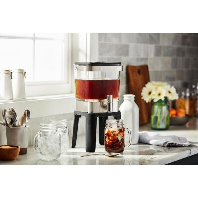 4.75 Cup Silver Cold Brew Coffee Maker