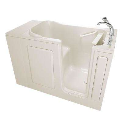 Value Series 48 in. Right Hand Walk-In Air Bath Bathtub in Biscuit