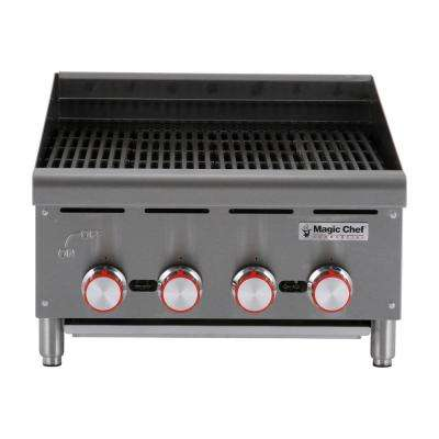 Commercial 24 in. Countertop Radiant Charbroiler