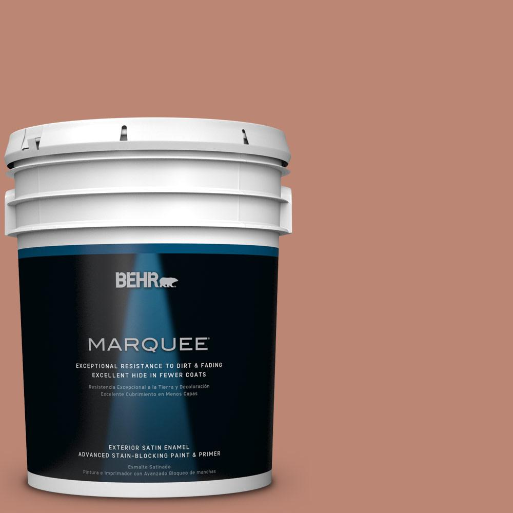 BEHR MARQUEE 5-gal. #PPU2-9 Ginger Rose Satin Enamel Exterior Paint