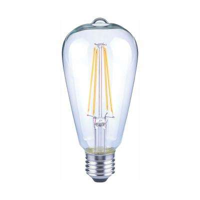 40-Watt Equivalent ST19 Antique Edison Dimmable Clear Glass Filament Vintage Style LED Light Bulb Daylight (32-Pack)