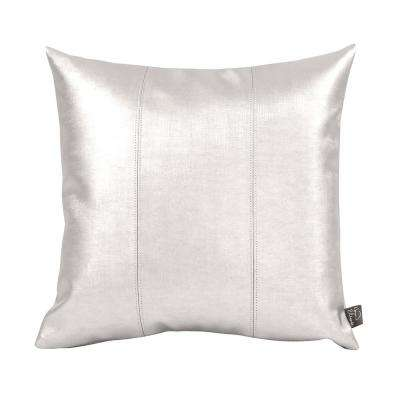 Luxe Beige Mercury 16 in. x 16 in. Decorative Pillow