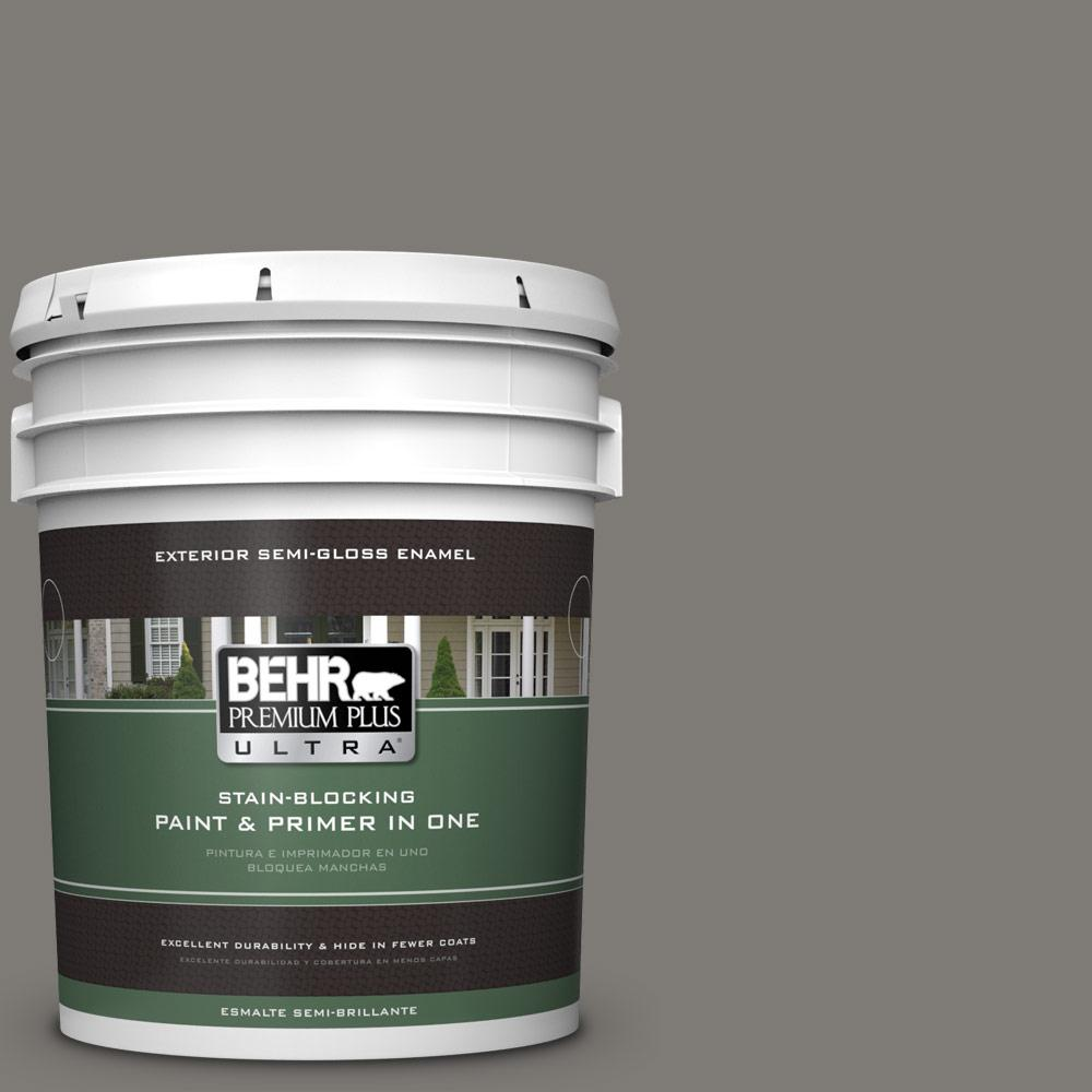 5 gal. #PPU24-21 Greyhound Semi-Gloss Enamel Exterior Paint