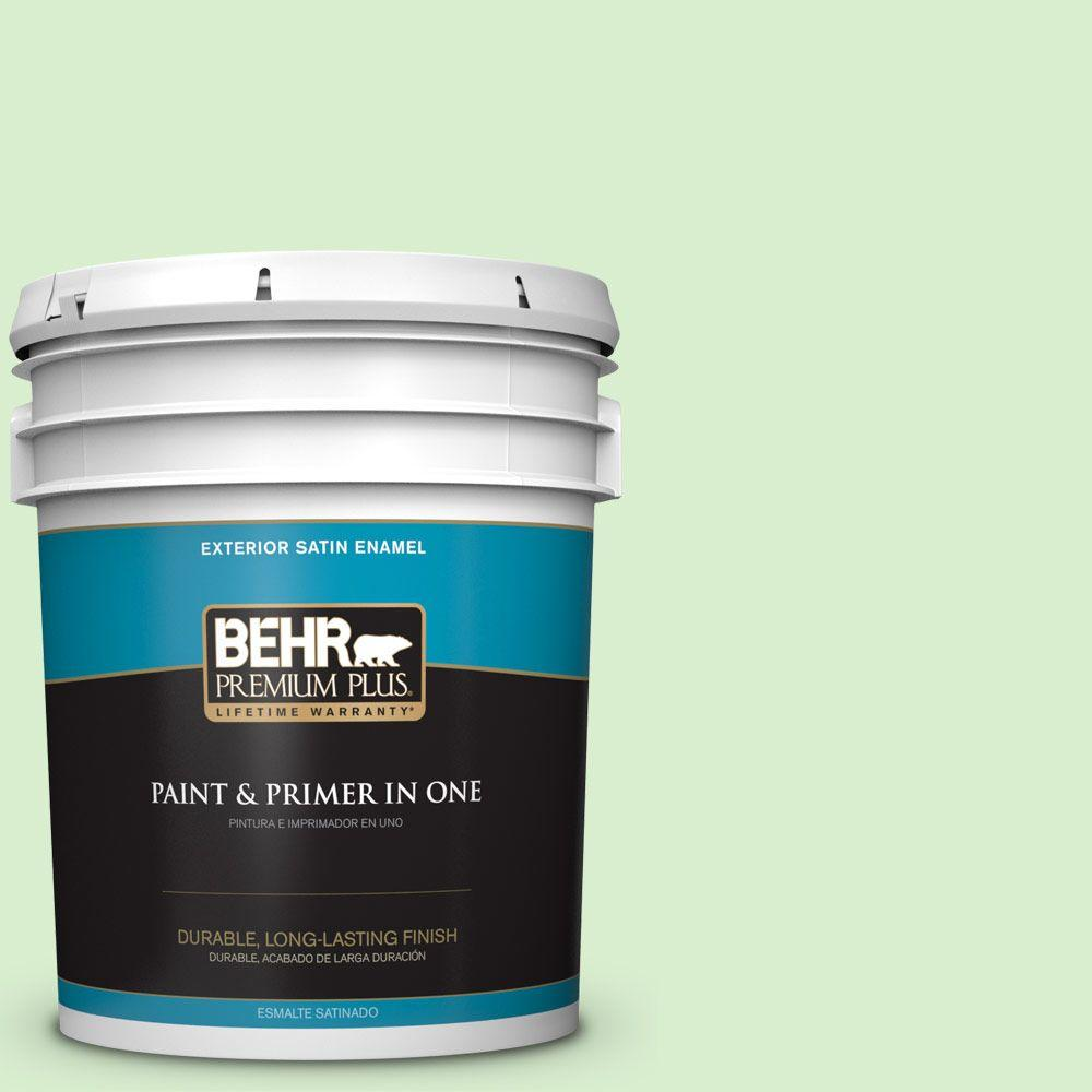 5-gal. #430A-2 Seafoam Spray Satin Enamel Exterior Paint
