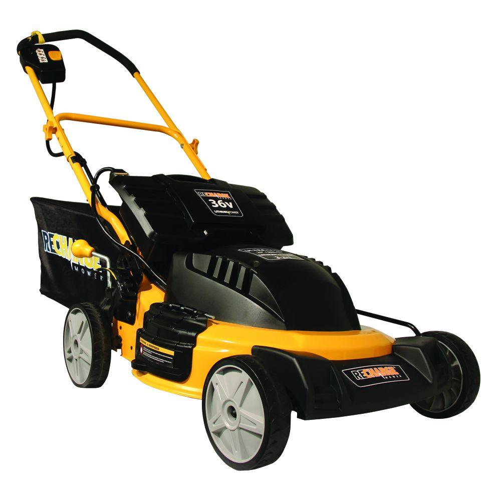 Recharge Mower 20 in. 36-Volt Lithium-ion Cordless Electric Lawn Mower
