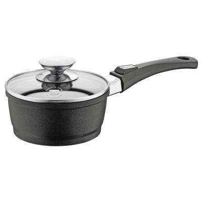 Vario Click 6.75 in./1.25 Qt. Induction Round Sauce Pan with Lid Black
