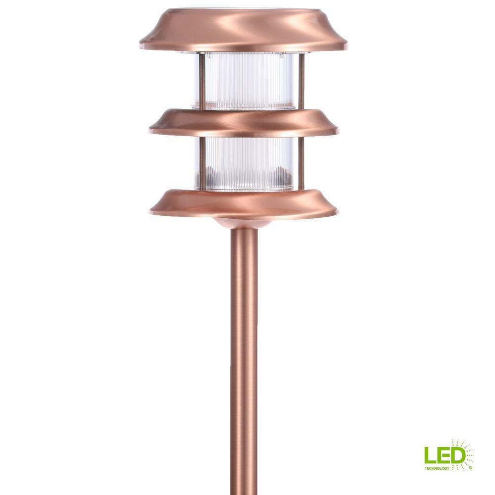 Hampton Bay Solar Copper Outdoor Integrated LED Ground