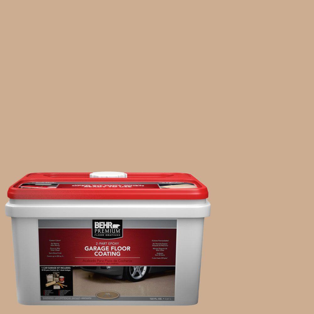 BEHR Premium 1-gal. #PFC-23 Tan 2-Part Epoxy Garage Floor Coating Kit