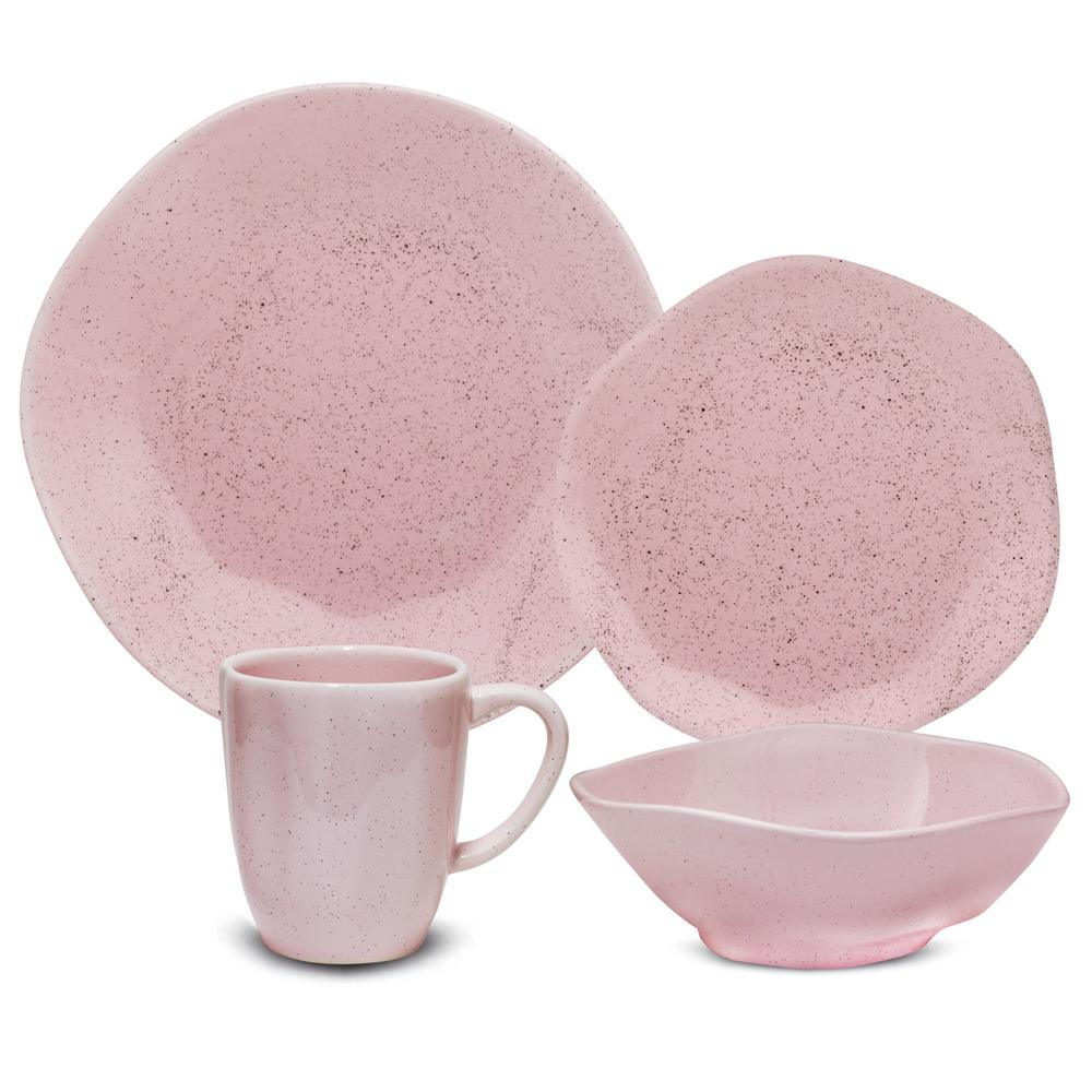 Manhattan Comfort RYO 16-Piece Casual Pink Porcelain Dinnerware Set (Service for 4) was $179.99 now $114.63 (36.0% off)
