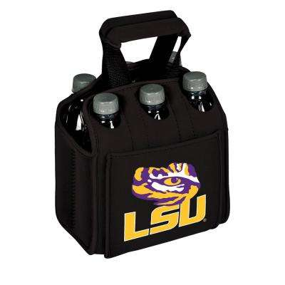 Louisiana State University Tigers 6-Bottles Black Beverage Carrier