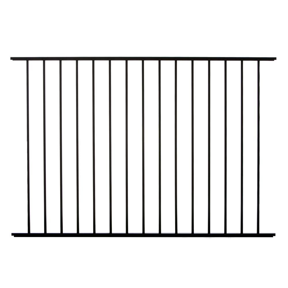 Meriden 4 ft. H x 6 ft. W Aluminum Fence Panel