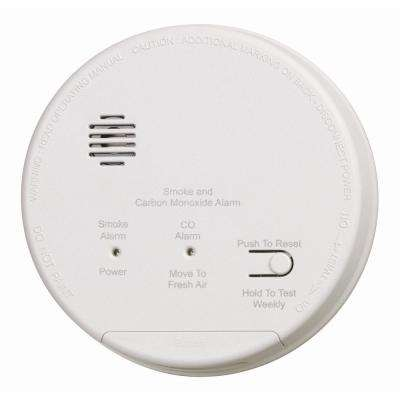 Hardwired Interconnected Photoelectric Smoke and CO Alarm with Dualink and Battery Backup