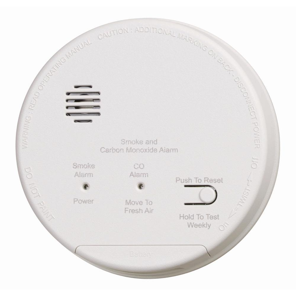 Kidde Hardwire Smoke And Carbon Monoxide Detector With 10 Year Ionization Ic Hardwired Interconnected Photoelectric Co Alarm Dualink Battery