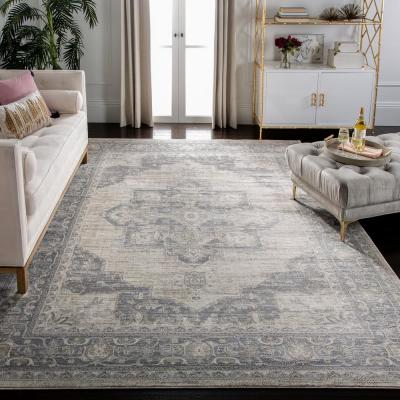 Brentwood Cream/Gray 9 ft. x 9 ft. Square Area Rug