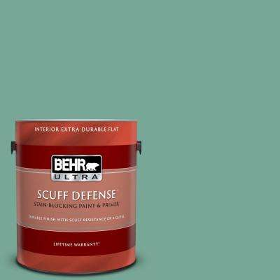 1 gal. #MQ6-38 Patina Extra Durable Flat Interior Paint and Primer in One