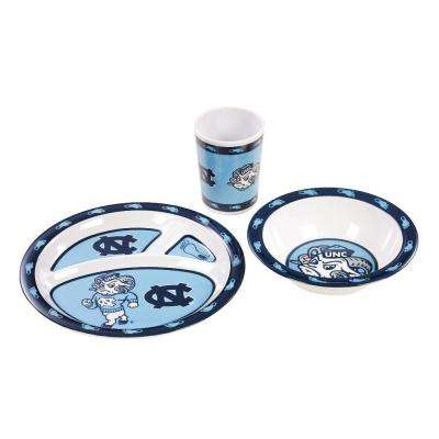 NCAA North Carolina Tar Heels 3-Piece Kid's Dish Set