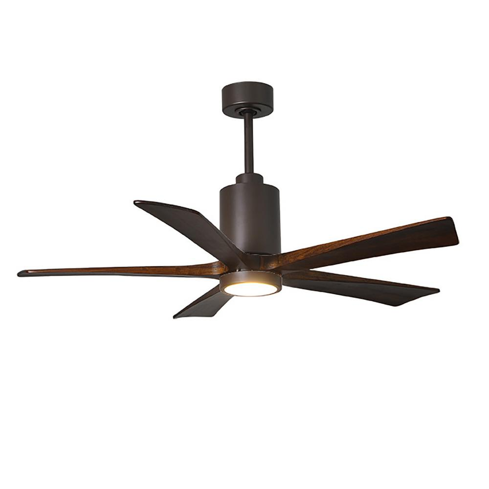 Patricia 52 in. LED Indoor/Outdoor Damp Textured Bronze Ceiling Fan with