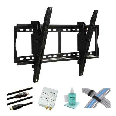 37 in. to 70 in. Tilting TV Mount Kit with HDMI Cables and Surge Protector