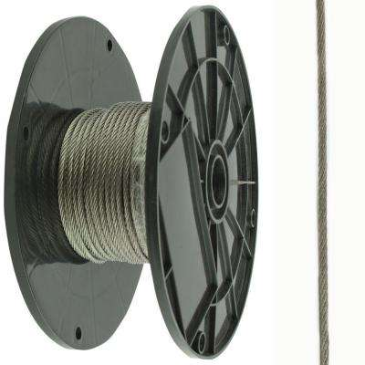 1/16 in. x 500 ft. Galvanized Steel Plated Uncoated Wire Rope
