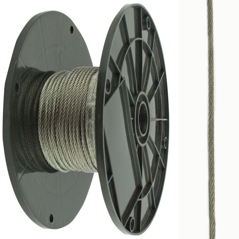 Everbilt 5/16 in. Stainless Steel Uncoated Wire Rope-809806 - The ...